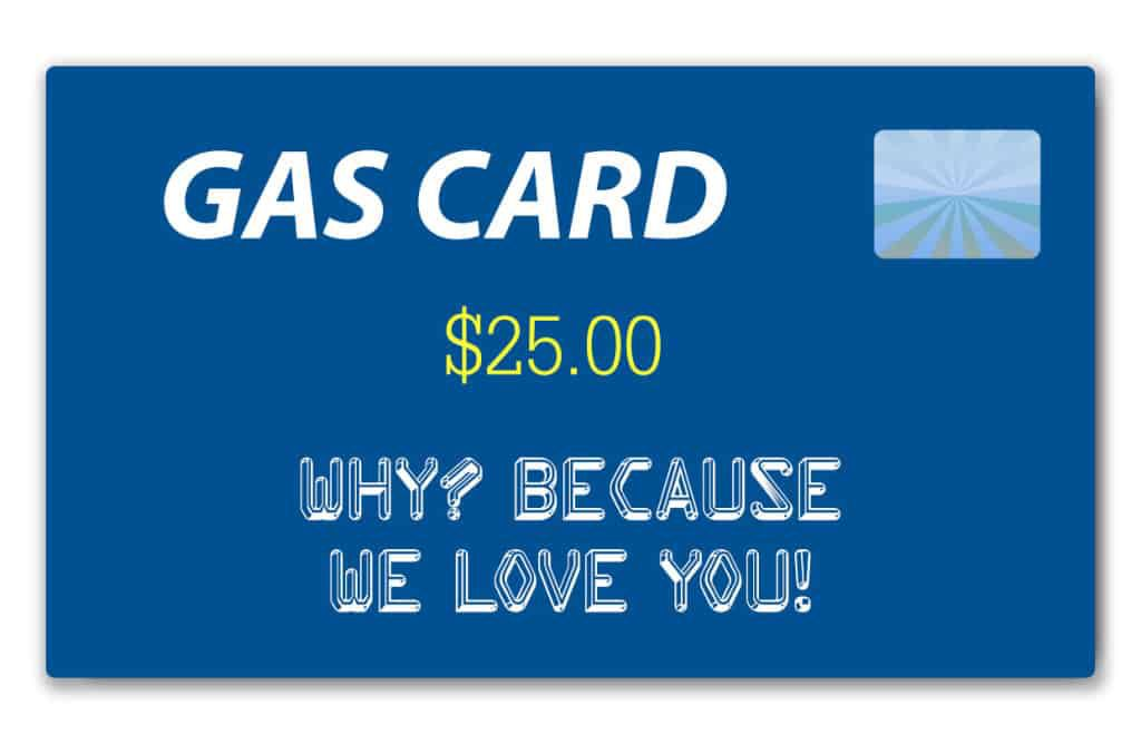 Whenever the police found a sober driver and tipsy passengers, the driver got a $25 gas card
